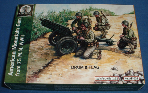 WATERLOO 1815 AP038 AMERICAN MOUNTAIN GUN. WW2. 1:72 SCALE