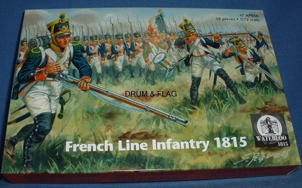 WATERLOO 1815 AP056 FRENCH LINE INFANTRY 1815. 1/72 SCALE. c.58 FIGS