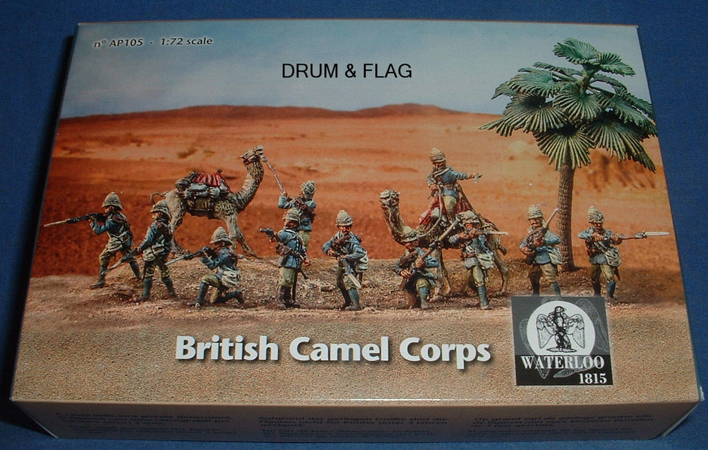 WATERLOO 1815 AP105 BRITISH CAMEL CORPS - SUDAN. 1/72 SCALE. 11 METAL FIGURES