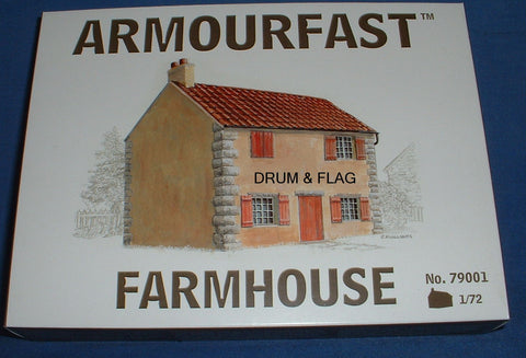 ARMOURFAST 79001 EUROPEAN FARMHOUSE KIT 1/72 SCALE TWO-TONE PLASTIC