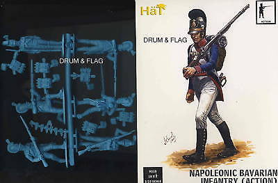 HAT 9315 BAVARIAN INFANTRY - ACTION POSES - 1/32 SCALE X 18 PLASTIC FIGURES