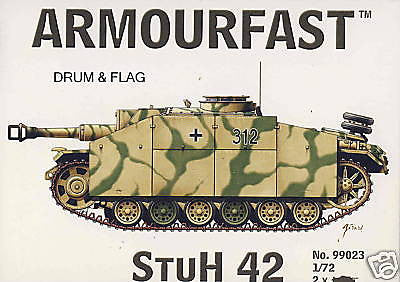 ARMOURFAST 99023 WW2 GERMAN StuH 42. 2 x 1/72 SCALE TANKS