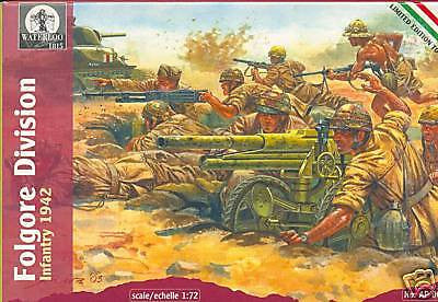 Waterloo 1815 AP002 Folgore Division Infantry 1942 1/72 SCALE WW2 ITALIAN. ITALY