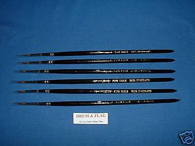 JAVIS HIGH QUALITY SABLE PAINT BRUSHES 6 x Size 5/0. SABLE BRUSH 00000 SIX PACK