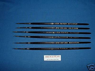 JAVIS HIGH QUALITY SABLE PAINT BRUSHES 6 x Size 4/0