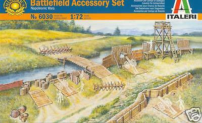 ITALERI 6030 BATTLEFIELD ACCESSORY SET. 1:72 SCALE. BATTLE FIELD ACCESSORIES