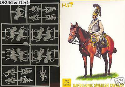 HAT 8178 NAPOLEONIC SWEDISH CAVALRY. 1:72 SCALE. UNPAINTED PLASTIC.