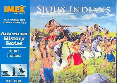 IMEX 508: SIOUX INDIANS. 1/72 SCALE. WILD WEST AMERICAN PLAINS INDIAN WARRIORS