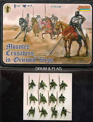STRELETS 104. MOUNTED CRUSADERS IN ORIENTAL DRESS. 1:72 SCALE. CRUSADER CAVALRY dns