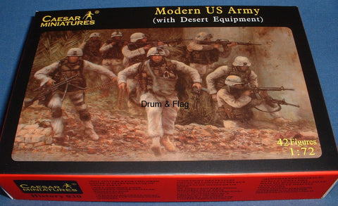 CAESAR SET #30 - MODERN US ARMY. DESERT EQUIPMENT. 1/72 SCALE PLASTIC