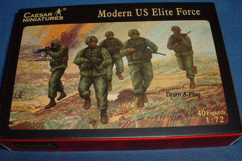 CAESAR SET #58 - MODERN US ELITE FORCE. 1/72 SCALE PLASTIC