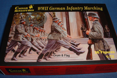 CAESAR SET #81 - WW2 GERMAN INFANTRY MARCHING. 1/72 SCALE PLASTIC