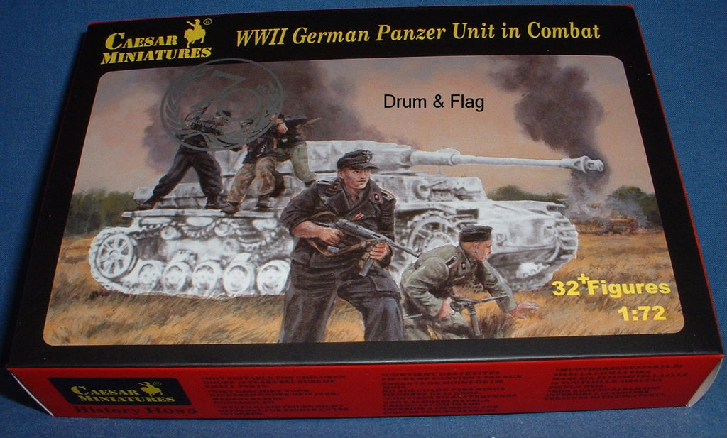 CAESAR SET #85 - WW2 GERMAN PANZER UNIT IN COMBAT. 1/72 SCALE PLASTIC