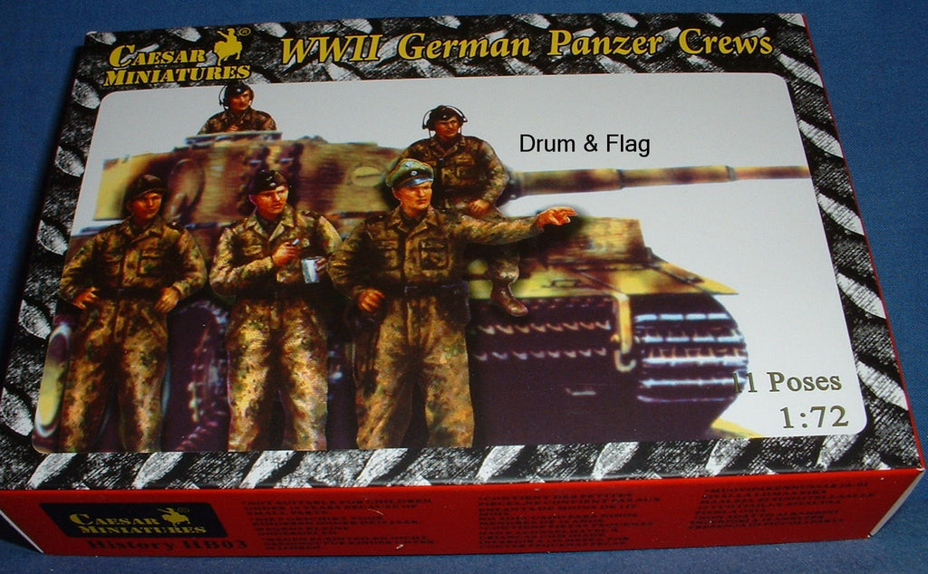 CAESAR SET HB03 - WW2 GERMAN PANZER CREWS. 1/72 SCALE PLASTIC