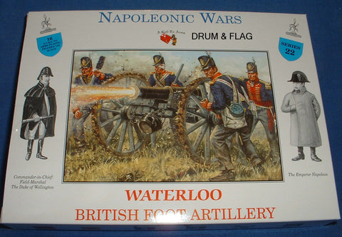 A CALL TO ARMS SET #22. BRITISH FOOT ARTILLERY CREW ONLY - NO CANNONS. 1/32 SCALE. NAPOLEONIC ERA