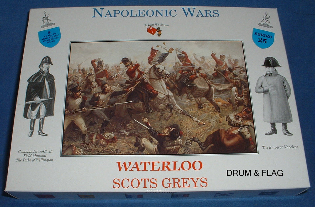 A CALL TO ARMS SET #25. SCOTS GREYS BRITISH CAVALRY. 1/32 SCALE. NAPOLEONIC ERA