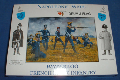 A CALL TO ARMS SET #28 FRENCH LIGHT INFANTRY. 1/32 SCALE. NAPOLEONIC