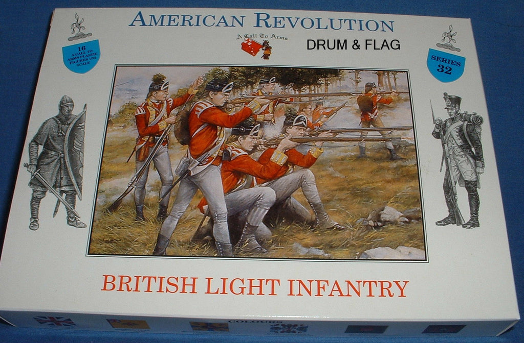 A CALL TO ARMS 32 BRITISH AWI LIGHT INFANTRY. 1:32 SCALE 54MM REVOLUTIONARY WAR