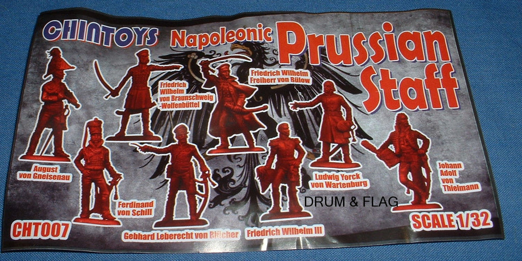 CHINTOYS cht007 NAPOLEONIC PRUSSIAN STAFF 1/32 SCALE 55-60mm