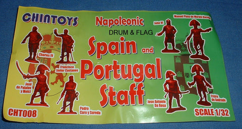 CHINTOYS cht008 NAPOLEONIC SPANISH & PORTUGUESE STAFF 1/32 SCALE 55-60mm