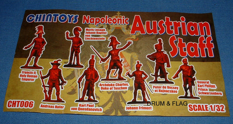 CHINTOYS cht006 NAPOLEONIC AUSTRIAN STAFF 1/32 SCALE 55-60mm