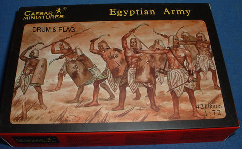 CAESAR #9. EGYPTIAN ARMY. 1/72 Scale Plastic Figures.