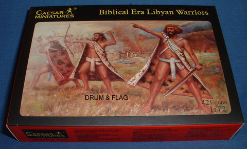 CAESAR #22. BIBLICAL ERA LIBYAN WARRIORS. 1/72 SCALE. LIBYANS.