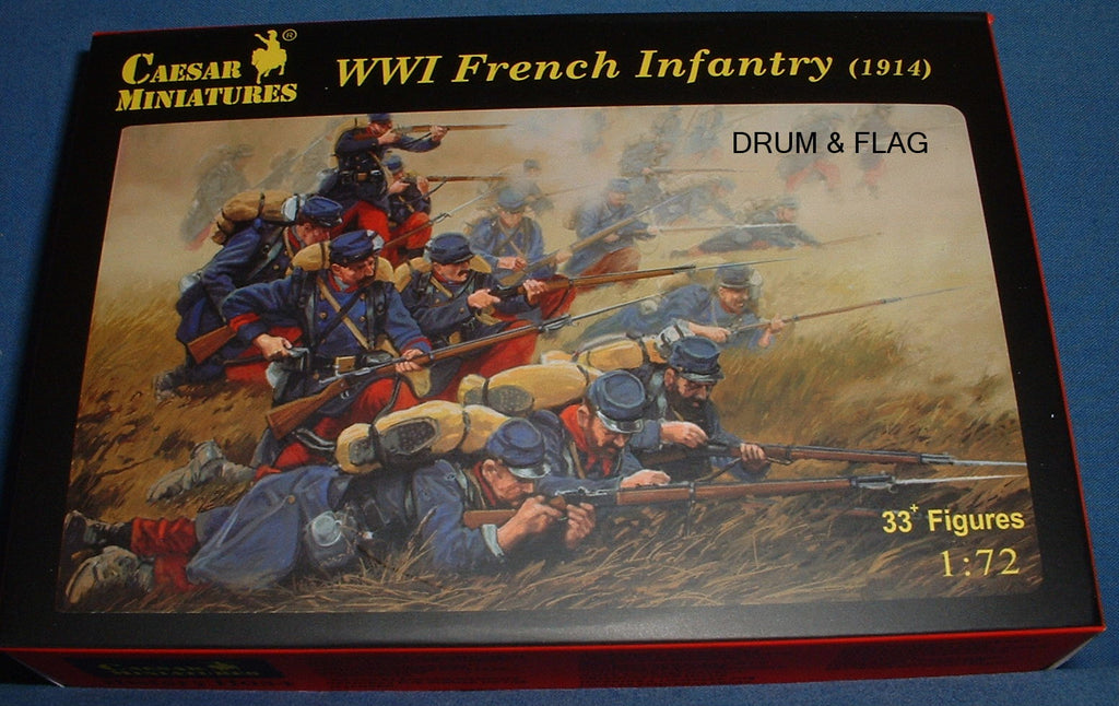 CAESAR SET 34. WWI FRENCH INFANTRY. 1/72 Scale. WW1 - 1914