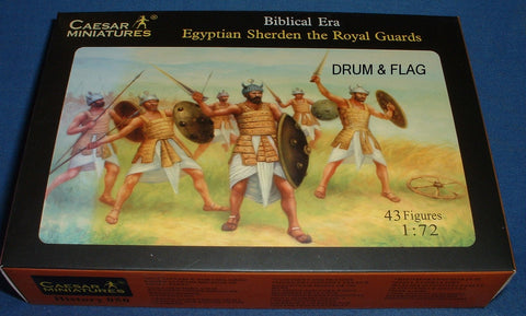 CAESAR #50 - EGYPTIAN SHERDEN ROYAL GUARDS - 1/72 SCALE. Biblical Era x