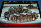 CAESAR Set #79. WWII GERMAN INFANTRY TANK RIDERS Winter Set 2.1/72 Scale