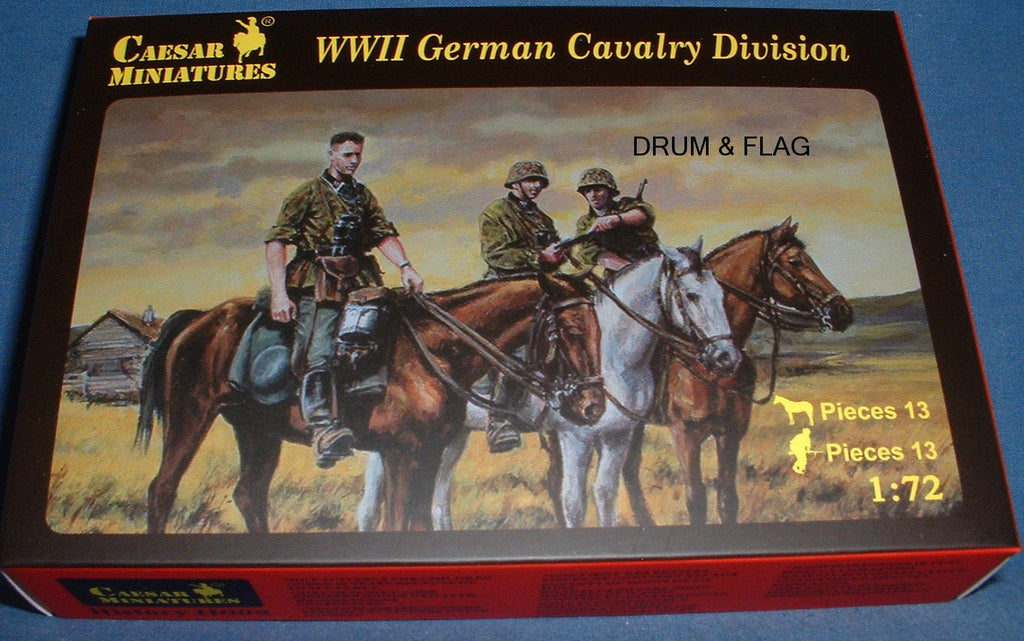 CAESAR Set #92. WWII GERMAN CAVALRY DIVISION. 1/72 Scale