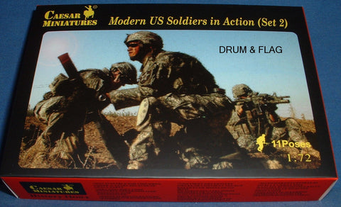 CAESAR Set #94. MODERN US SOLDIERS IN ACTION (SET 2). 1/72 Scale