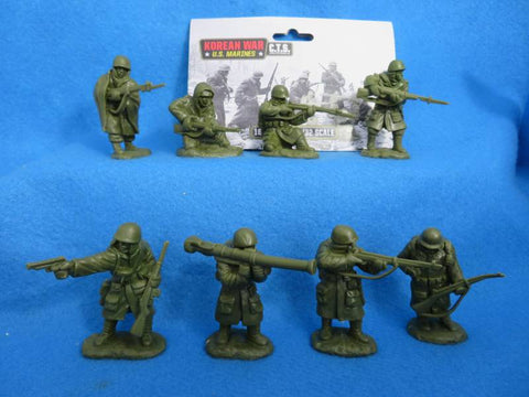 CTS - United States Marine Corps. Korean War. 16 figures in 8 poses. 1/32 scale plastic.