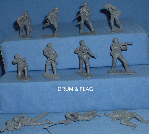 CTS - WW2 GERMAN ASSAULT GROUP. c60mm Unpainted Plastic