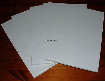 WHITE FOAM BOARD X 5 A4 SIZE SHEETS. 295 x 205 x 5 MM. FOR CRAFT & HOBBY USE