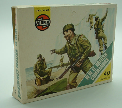 AIRFIX 01732 - WWII  British Commandos Type 1 - 39 Pieces. 1:72 Scale. Pre-owned Vintage