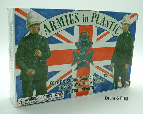 ARMIES IN PLASTIC #5449 - BRITISH INFANTRY EGYPT & SUDAN 1882. 1/32 SCALE