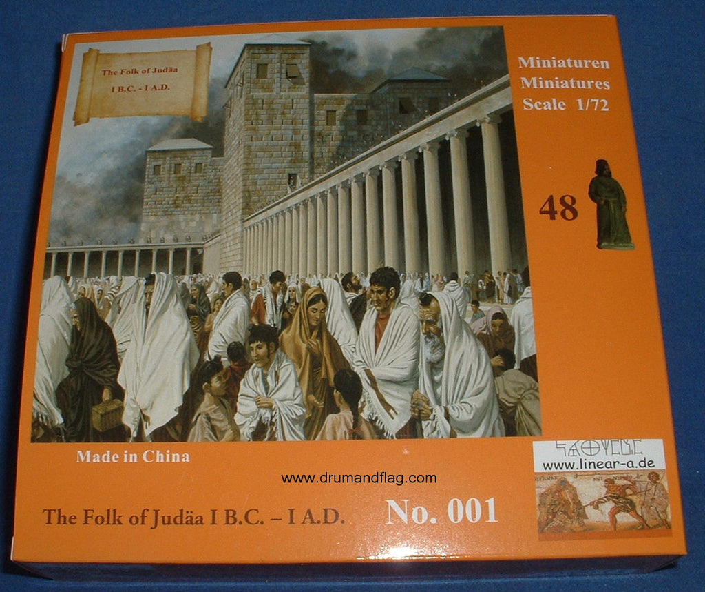 LINEAR-A Set No 001 THE FOLK OF JUDEA I B.C. - 1 A.D. 1/72 scale plastic.