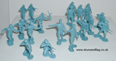Marx Reissues - WW2 Free French. 1/32 Scale. Light Blue Plastic