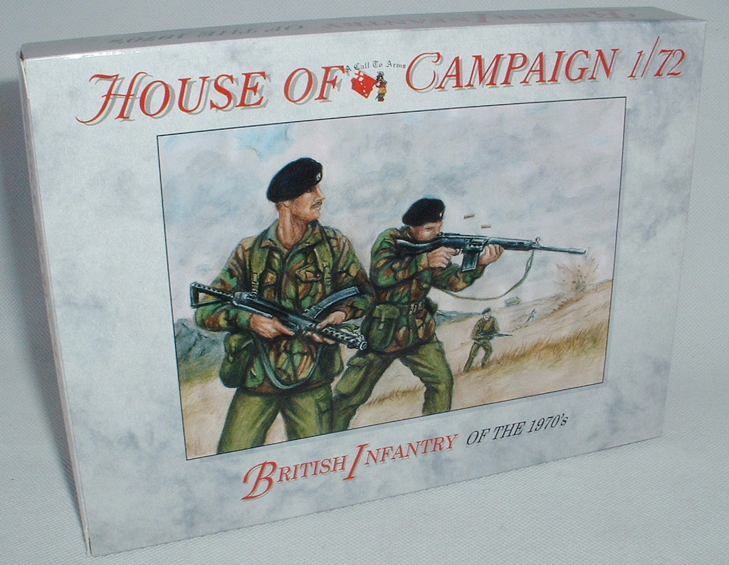 A CALL TO ARMS 67. British Infantry of the 1970's. 1:72 Scale plastic figures.