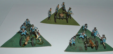 Napoleonic Wurttemberg Artillery - Painted - 1/72 Scale. Used. Various makes