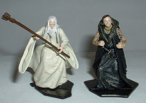 Saruman & Wormtongue. LORD OF THE RINGS AOME (ARMIES OF MIDDLE EARTH). Used.