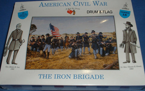 A CALL TO ARMS #18 UNION IRON BRIGADE 1/32 SCALE CIVIL WAR INFANTRY - UNPAINTED