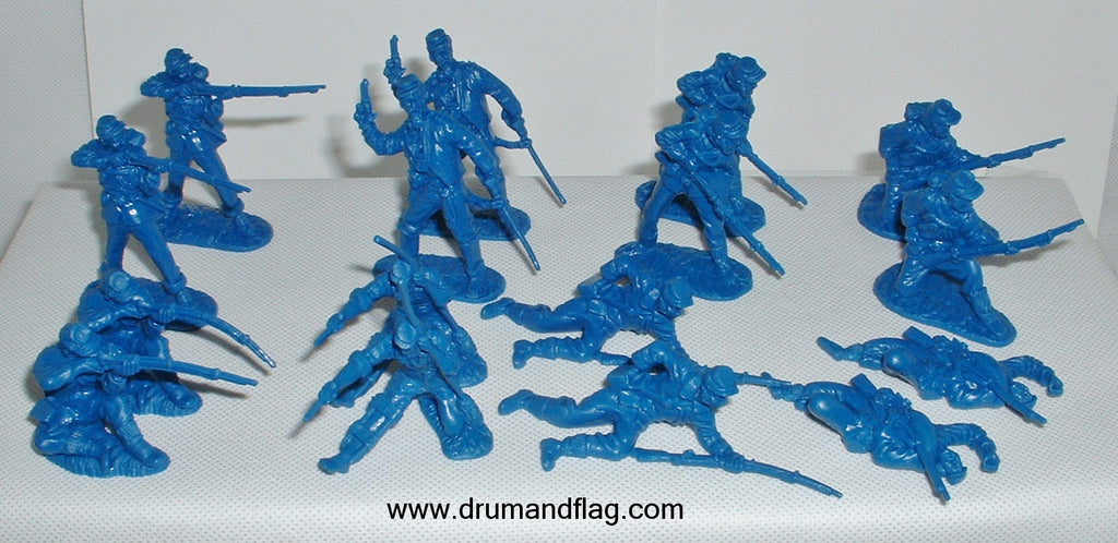 CTS - Union Infantry. American Civil War. 16 figures in 8 poses. 1/32 scale plastic.