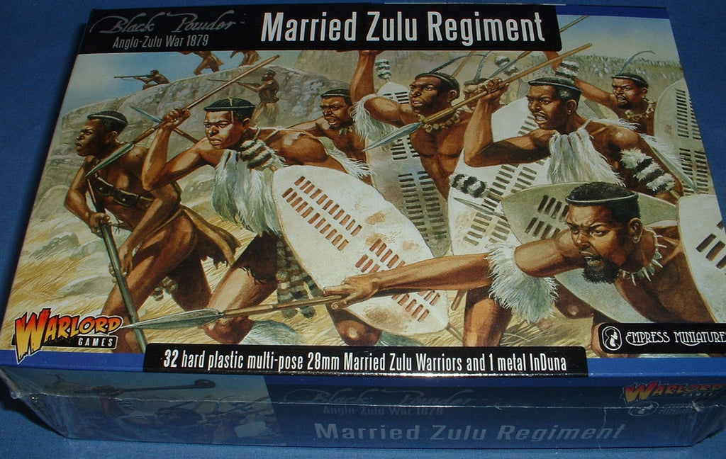 Warlord Games Married Zulu Regiment  28mm Plastic with metal InDuna
