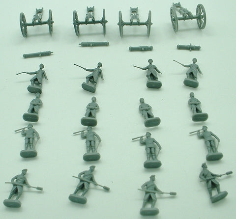 ESCI - Crimean War Russian Artillery. Custom Set. 1:72 Scale. Vintage