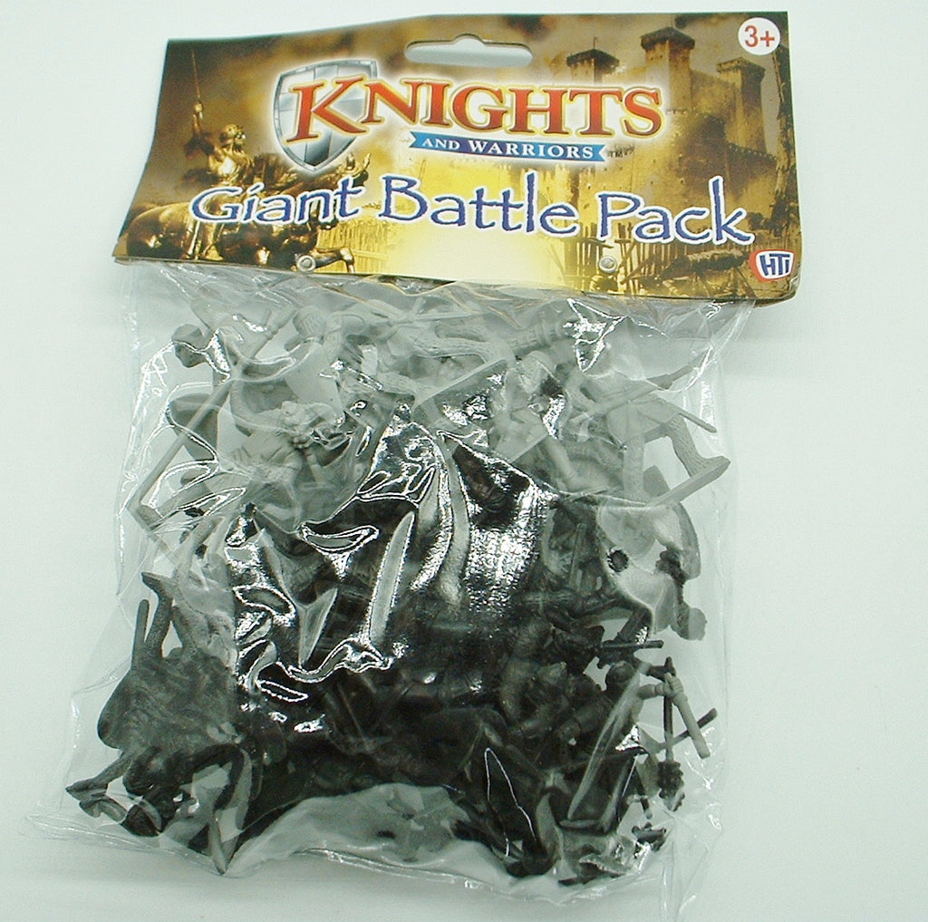 HTI - Knights & Warriors Giant Battle Pack - 40 x 50/60mm tall basic  plastic figures