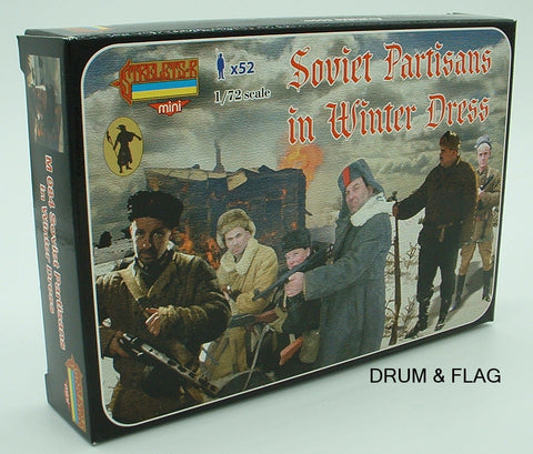 STRELETS M 84 WW2 SOVIET / RUSSIAN PARTISANS WINTER DRESS  - 1/72 SCALE PLASTIC