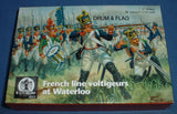 WATERLOO 1815 AP062 FRENCH LINE INFANTRY VOLTIGEURS AT WATERLOO. 1/72 SCALE. 28 FIGS