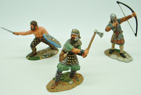 Conte Collectibles - Barbarians x 3 - Painted Metal 1/32 Scale (c.54mm)